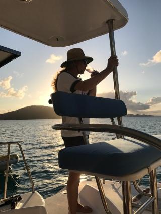 matt on boat